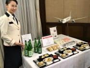 愛媛県が新開発したブランド米「ひめの凜(りん)」などを提供(27日、県庁)