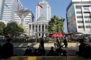 ジャカルタ中心部の憲法裁判所=AP