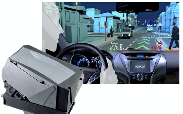 自動車関連事業を成長分野に位置づけ、ヘッドアップディスプレーを開発している(画像はイメージ)