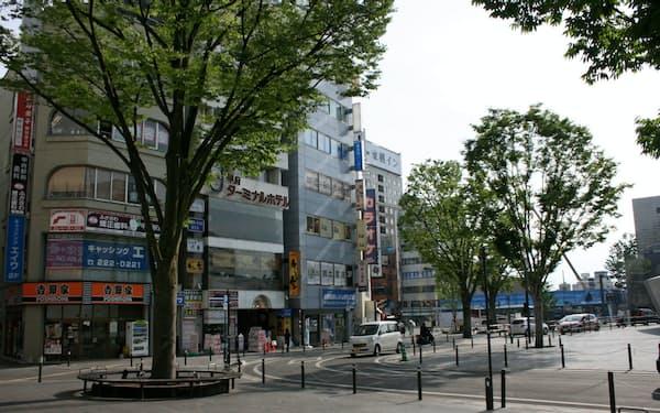 山梨県の路線価で最高となった甲府駅前通り(甲府市)