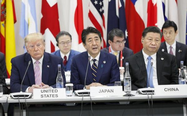 G20大阪サミットでの米中の覇権争いは軸なき世界を浮き彫りにした=代表撮影