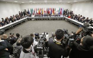 G20大阪サミットで行われたデジタル経済に関する首脳特別イベント(28日、大阪市)=代表撮影
