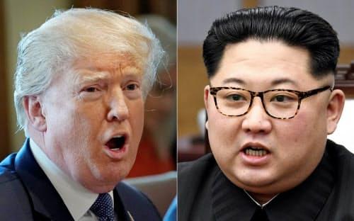 トランプ米大統領と北朝鮮の金正恩委員長=ロイター