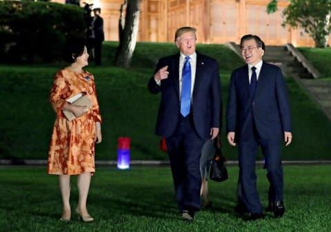 トランプ大統領は29日夜に韓国に到着した(写真はロイター)