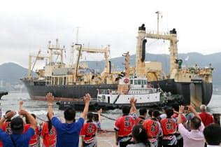 商業捕鯨が31年ぶり再開