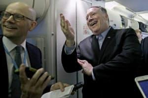 ポンペオ米国務長官が中心となって北朝鮮との非核化交渉に臨む(写真はAP)