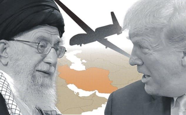 米、イランの小型無人機を撃墜 ホルムズ海峡