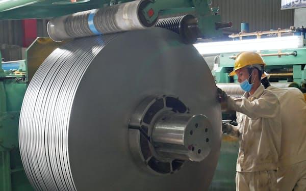 日鉄物産はベトナム人の従業員の働き方を改革し、生産の効率化を進めた(ホーチミン市郊外)