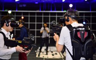 VRゲームを体験できる施設「頭号玩珈」(雲遊控股提供)