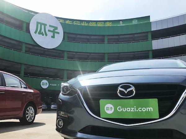 中国・深圳にある中古車販売「瓜子二手車」の店舗(6月)