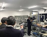 浜松医大は「医工連携拠点棟」の見学会を開いた。