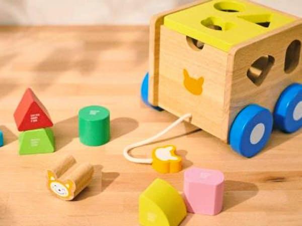 相鉄のキャラクター「そうにゃん」を使った木製の知育玩具を発売する