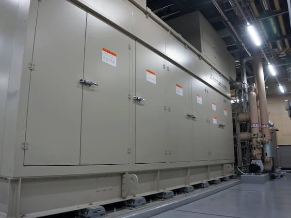 東ガスが子会社を通じて運用するコージェネ設備