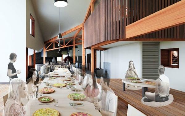 新設するレストランでは採れたての食材を使った料理が楽しめる(イメージ)