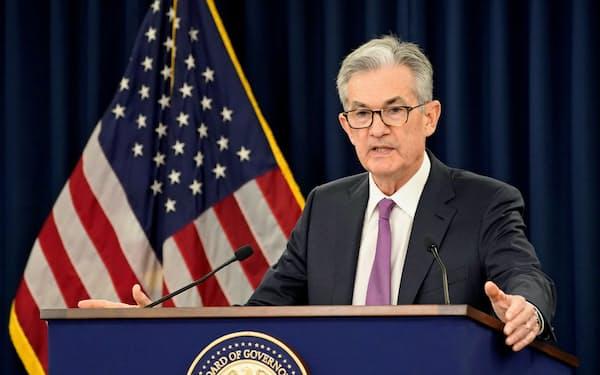 FRBのパウエル議長にはトランプ米大統領から露骨な利下げ圧力がかかっている=ロイター