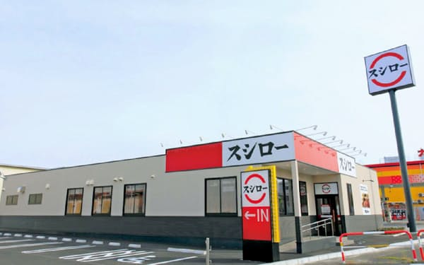 スシローGHは郊外の路面店が主力