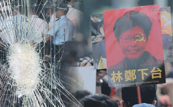 香港で100万人規模のデモが起きて1カ月、早期に収束するか不透明だ(コラージュ)