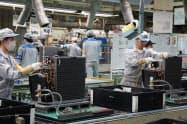 ダイキンの滋賀製作所はフル稼働が続く(滋賀県草津市)