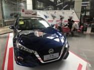 日産自動車の中国での6月の新車販売台数は前年同月比微増だった(広東省広州市の販売店)