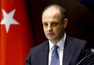 トルコ中央銀行のチェティンカヤ総裁=ロイター