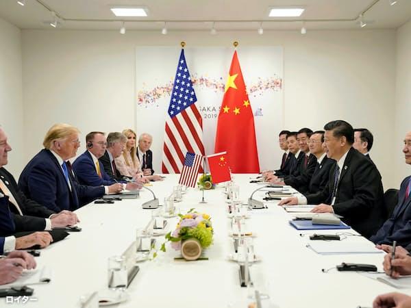 6月の米中首脳会談を受け、貿易摩擦が緩和に向かうとの見方から株価が上昇した=ロイター