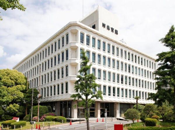 岸記念体育会館の跡地は都立公園に整備される予定だ(東京都渋谷区)=共同