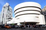 フランク・ロイド・ライトが手掛けた、米ニューヨークのグッゲンハイム美術館(ゲッティ=共同)