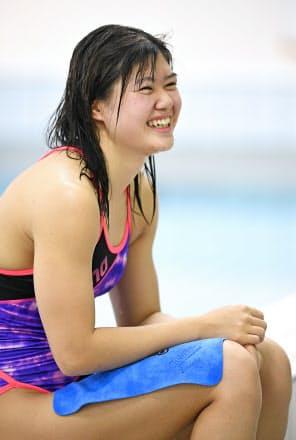 4月の日本選手権では「最後まで周りを気にせず、自分の泳ぎができた」と語る