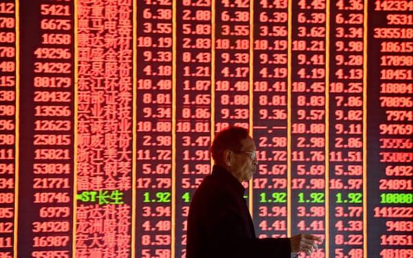 2018年以降、海外投資家による中国株式市場への総投資額は750億ドル(約8兆円)に上るという=ロイター
