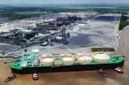 千代田化工が米ルイジアナ州で建設するLNGプラント(キャメロンLNG社提供)