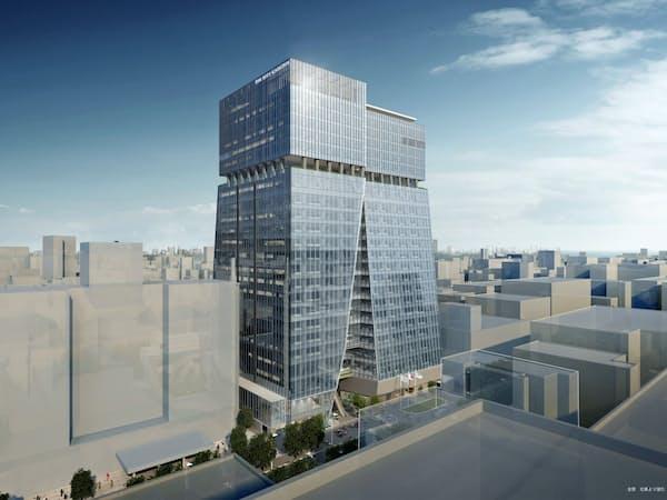 2023年3月に福岡市で開業予定の「ザ・リッツ・カールトン」の完成イメージ(17~24階部分、積水ハウス提供)