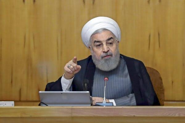 イランのロウハニ大統領=AP