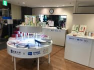 近畿日本ツーリスト関西は大阪府東大阪市の店舗で近畿大学発の商品などを展示する
