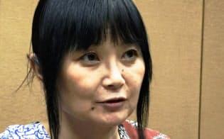 インタビューに答えるブレイディみかこさん(6月20日、東京都新宿区)