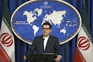 イラン外務省のムサビ報道官は8日の記者会見で、国際社会には「期待していない」と語った=AP