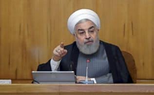 フランス外交顧問がイランに向かう(イランのロウハニ大統領)=AP