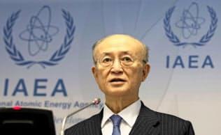 IAEAの天野事務局長=AP
