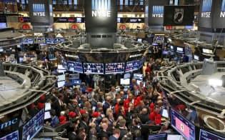 主要な機関投資家は世界的な景気後退への懸念を深めている(ニューヨーク証券取引所)=ロイター