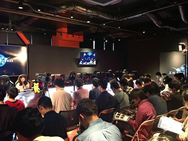 新潟コンピュータ専門学校内に設けたスタジアム。大会の会場にも利用されている