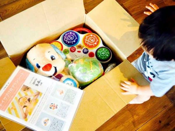 トイサブ!では隔月で知育玩具がレンタルできる