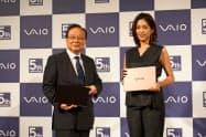 VAIOは設立5周年を記念してパソコンの新製品を発表した