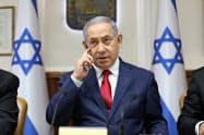 イスラエルのネタニヤフ首相はイランに対して警告した(7月9日)=AP
