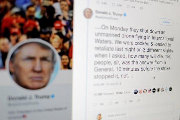米連邦控訴裁判所は9日、トランプ米大統領が特定のツイッターアカウントをブロックするのは違憲との判断を下した=ロイター