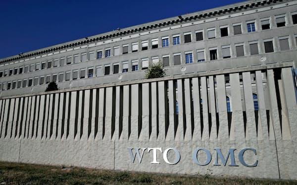 日本の輸出規制を受け、韓国はWTOへの提訴も検討する(ジュネーブのWTO本部)=ロイター