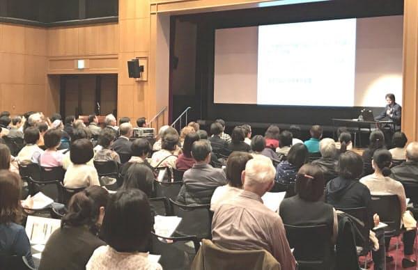 調布市の説明会には市民ら約200人が詰めかけた