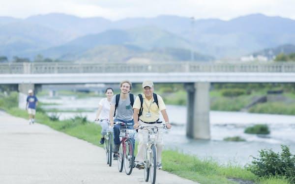 京都サイクリングツアープロジェクトでは欧米の富裕層向けに自転車ツアーが人気だ