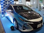 シャープやトヨタ自動車は車載用の高効率太陽電池を紹介(横浜市)