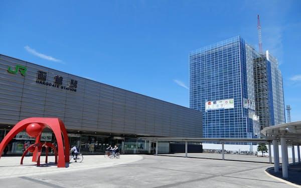 大和ハウスは函館駅隣で、ホテルを核とした複合施設(右奥)を建設中