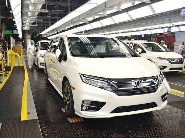2位に入ったホンダのミニバン「オデッセイ」の北米仕様車はすべて米国内で開発・生産している(アラバマ工場)