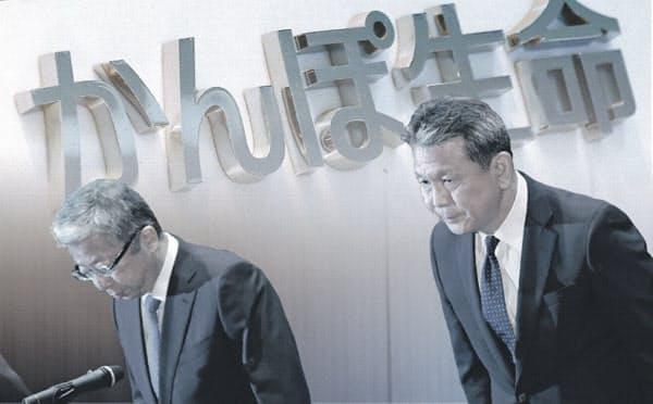 政府は秋にも日本郵政株を売却するとみられたが、主要子会社の不祥事で不透明に
